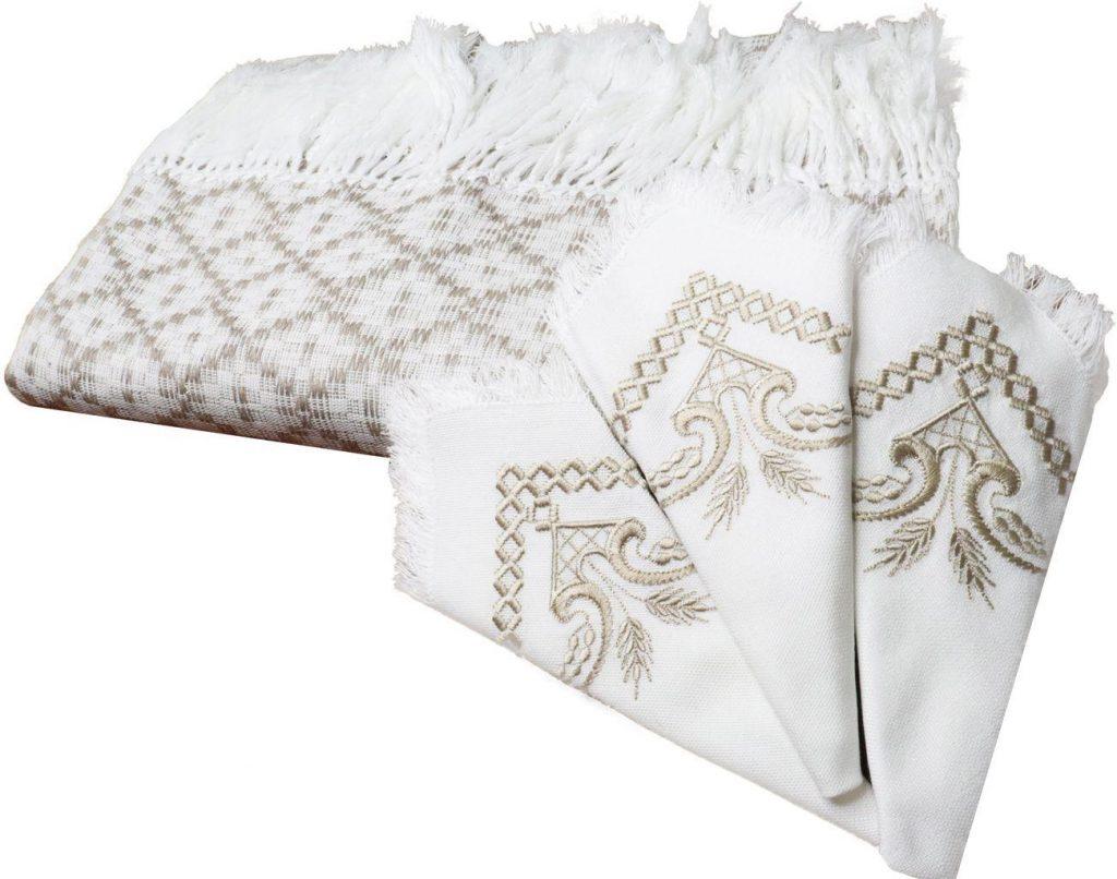 Комплект столовый тк. сув.рис.103-18(скатерть+столеш.+8 салф.) , РБ