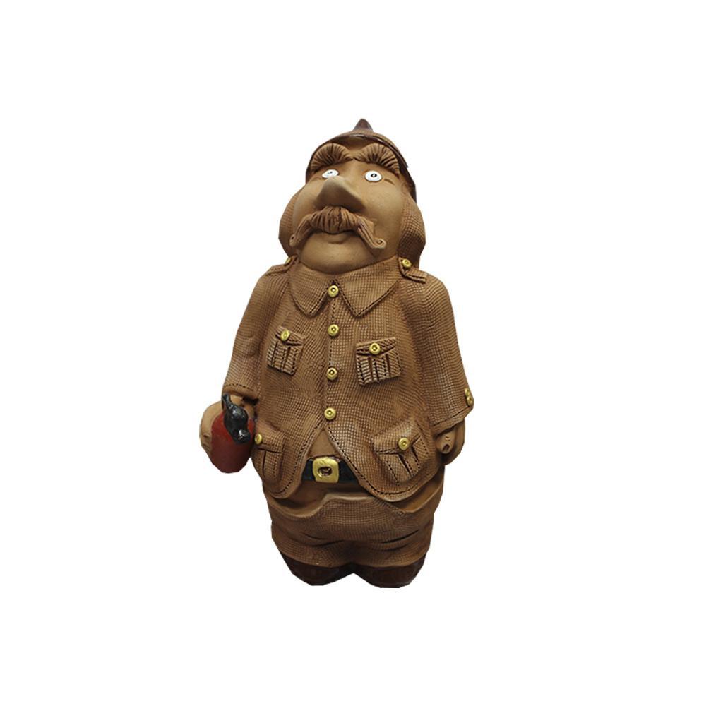 Скульптура «Пожарник-шкатулка» сувенир
