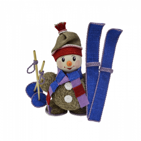 Сувенир «Снеговик с лыжами» рис. 152-20