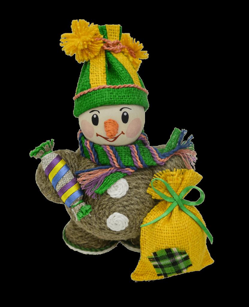 Сувенир «Снеговик с подарком» рис. 153-20