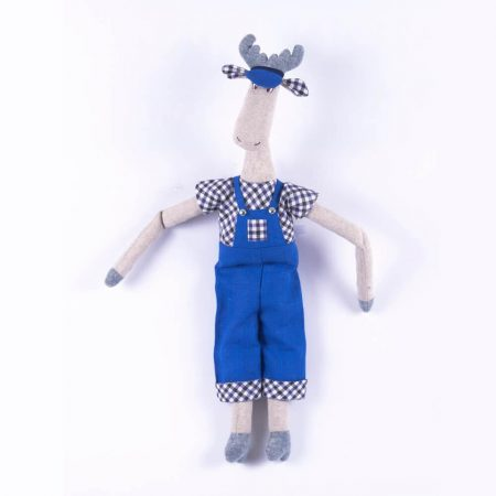Сувенирная кукла дек. «Лось Тихон»,531-20,РБ